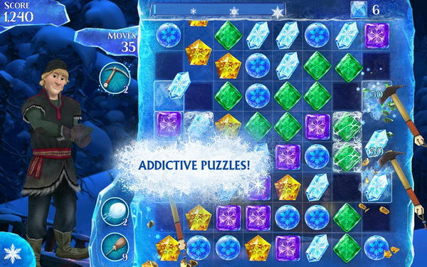 Frozen Free Fall App for Android