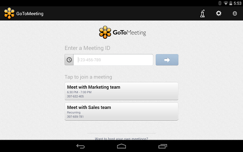 GoToMeeting App for Android