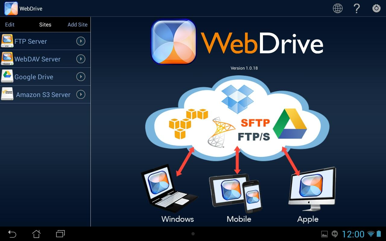 WebDrive App for Android