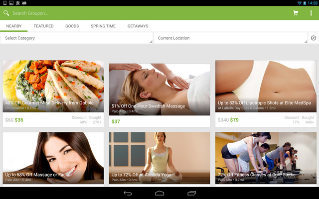 Groupon Daily Deals Coupons Android App