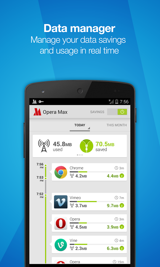 Opera Max Data Manager Android App