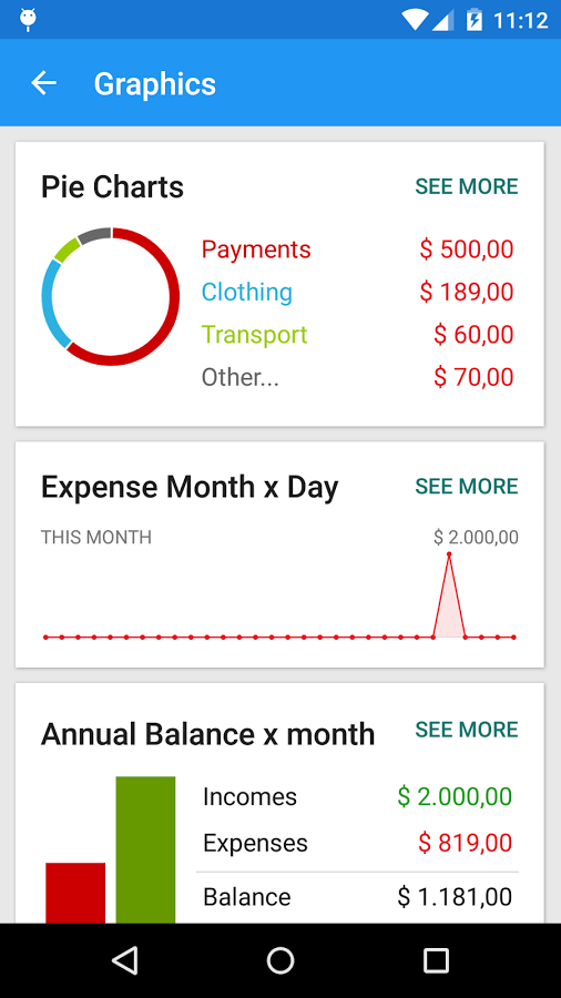 Mobills Financial Manager Android App