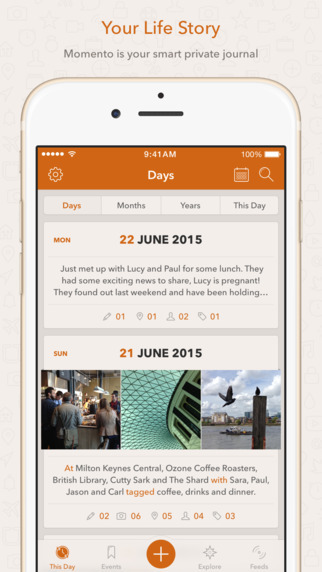 Momento - Private Diary Journal iPhone App Review