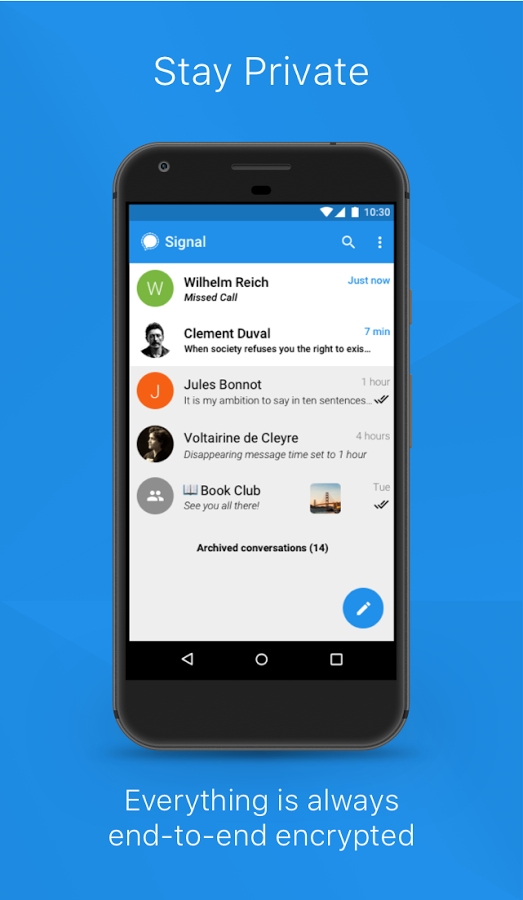 Stay Private with Signal Private Messenger for Android
