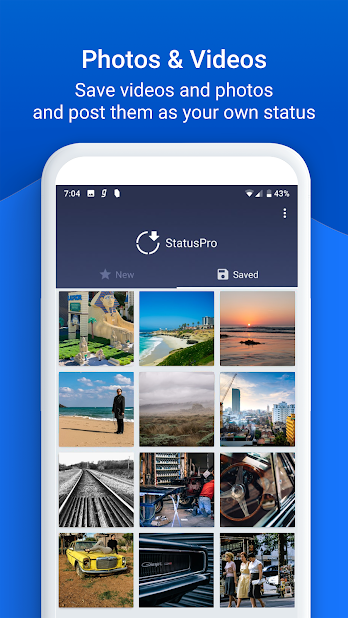 StatusPro Status Saver for WhatsApp Andorid app lets you download, save and share WhatsApp status videos. It is now easier to share the status posted by your friends.